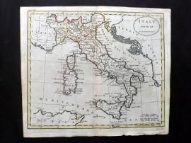 Guthrie 1788 Antique Hand Col Map. Italy from the best Authorities